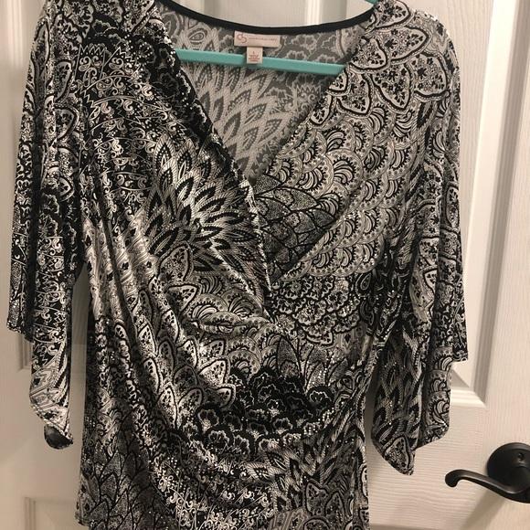 Dress Barn Tops - Wrap blouse